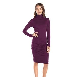 VELVET Gauzy Whisper Knit Turtleneck Dress LB